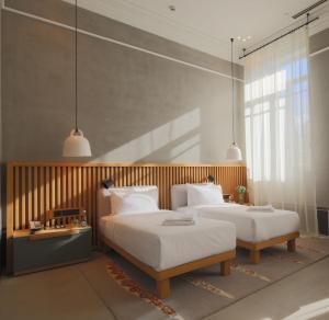 Кровать или кровати в номере Отель Kazan Palace by Tasigo