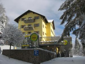 Hotel Zarja pozimi