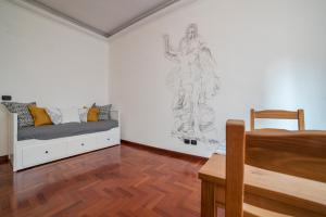 Area soggiorno di Portuense Bright Apartment