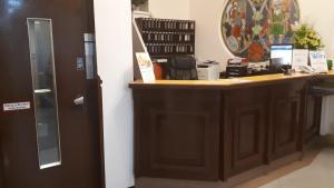 The lobby or reception area at Hotel Hadrigan