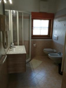 Koupelna v ubytování Chalet Claudia
