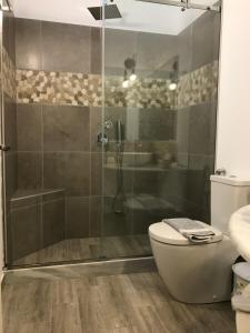 A bathroom at Paxos Santa Marina Villas