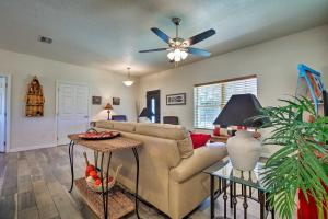A seating area at Spacious and Hip Crystal River Home with Dock and Kayaks!
