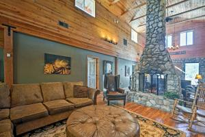 A seating area at Flagstaff Cabin with Fireplace and Fire Pit on 5 Acres!