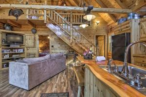 A kitchen or kitchenette at Remote Cabin on 30 Acres with Dock and Private Lake!