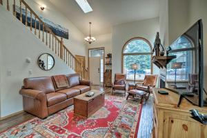 A seating area at Beautiful Ouray Home with Mtn View, 1 Mi to Town!