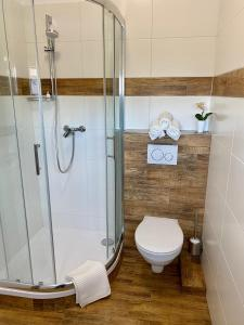 Koupelna v ubytování Frýdecká Apartments