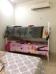 A bunk bed or bunk beds in a room at Recanto da Natureza Macaiba