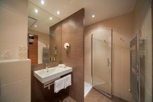 A bathroom at Hotel Kras