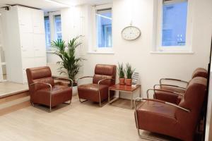 The lobby or reception area at Hotel Doria
