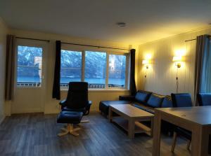Area soggiorno di Winjum Apartments Aurland Stegastein