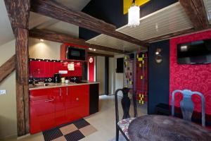 Küche/Küchenzeile in der Unterkunft Alice Apartment House