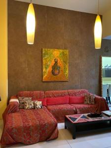 Coin salon dans l'établissement Sliema La Loggia DeLuxe Suites