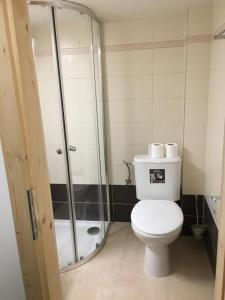 Ein Badezimmer in der Unterkunft Chalupa U Smrku