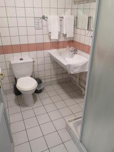 Salle de bains dans l'établissement Villa Motel