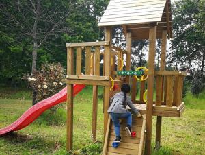 Children's play area at Casa Das Palmeiras-Pedagogic Farm
