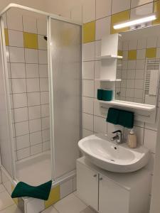Salle de bains dans l'établissement roomys Budget Apartments Stadthalle Vienna
