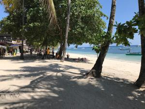 A beach at or near the resort