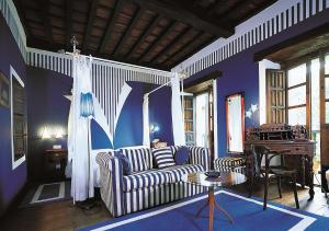 A seating area at Casona Camino Real De Selores