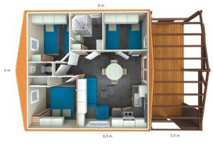 The floor plan of Camping Calme et Nature