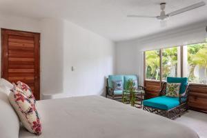 Cama o camas de una habitación en Playa house near 5th av.