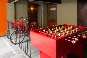 The game room at Downtown Beds