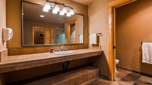 A bathroom at Best Western Ponderosa Lodge