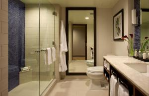 A bathroom at InterContinental New York Times Square, an IHG Hotel