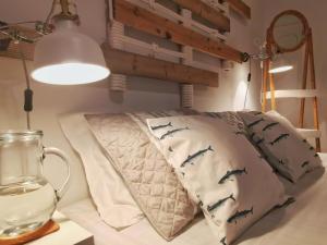 Cama o camas de una habitación en Roaz de Bandeira Guesthouse