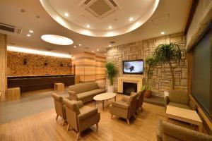 The lobby or reception area at Dormy Inn Sapporo Annex