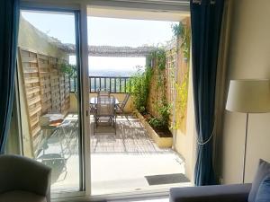 Balcon ou terrasse dans l'établissement Gite des remparts à Lectoure