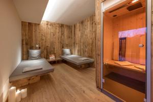 Ein Bett oder Betten in einem Zimmer der Unterkunft Hotel Waldheim