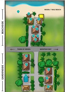 The floor plan of White Sands Negril
