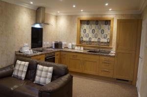 A kitchen or kitchenette at Myrtle Bank Hotel