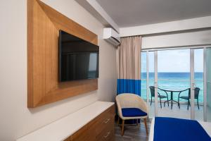 A television and/or entertainment center at South Gap Hotel