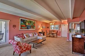 A seating area at Oceanfront Vero Beach Condo with Balcony Views!
