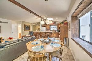 A restaurant or other place to eat at Lake of the Ozarks Home with Game Room, BBQ and Dock!