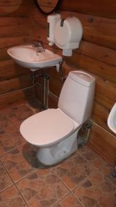 A bathroom at Meteorits