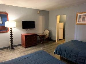 A television and/or entertainment center at City Center Motel