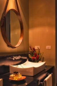 A bathroom at Warwick Le Lagon Resort & Spa, Vanuatu