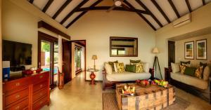 A seating area at Warwick Le Lagon Resort & Spa, Vanuatu