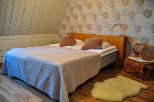 Säng eller sängar i ett rum på Maatilamatkailu Ali-Ketola