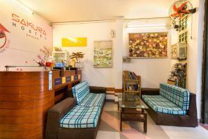 The lobby or reception area at SPOT ON 726 Sakura Hostel Saigon