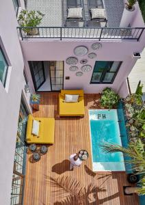The floor plan of Pineapple House Boutique Hotel