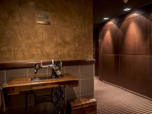 Salle de bains dans l'établissement Hôtel Le Pré Carré