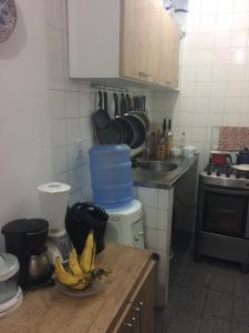 A kitchen or kitchenette at Varanda de mainha