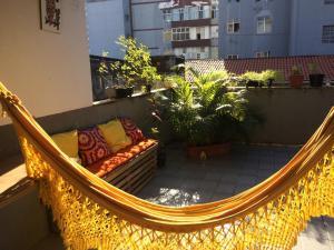 A balcony or terrace at Varanda de mainha