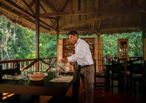 A restaurant or other place to eat at Tambopata Research Center