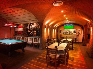 A pool table at Habtoor Grand Resort, Autograph Collection