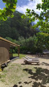 Um jardim em Le Rocher de Tahiti